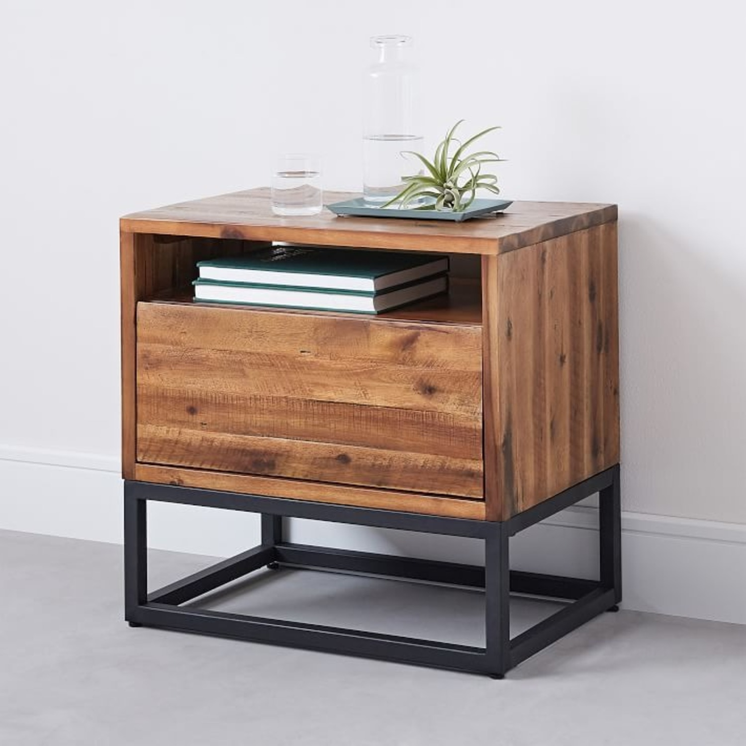 West Elm Industrial Nightstand Pair Natural - image-1