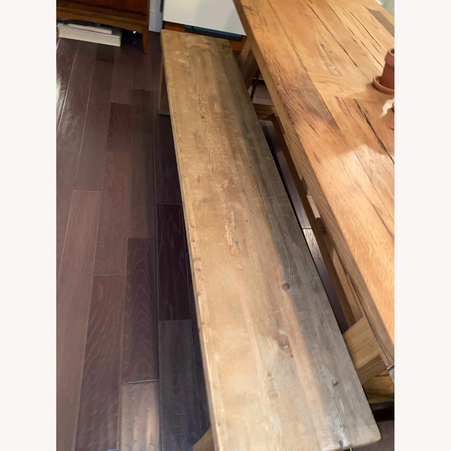 Restoration Hardware Russian Oak Table and Benches - image-5
