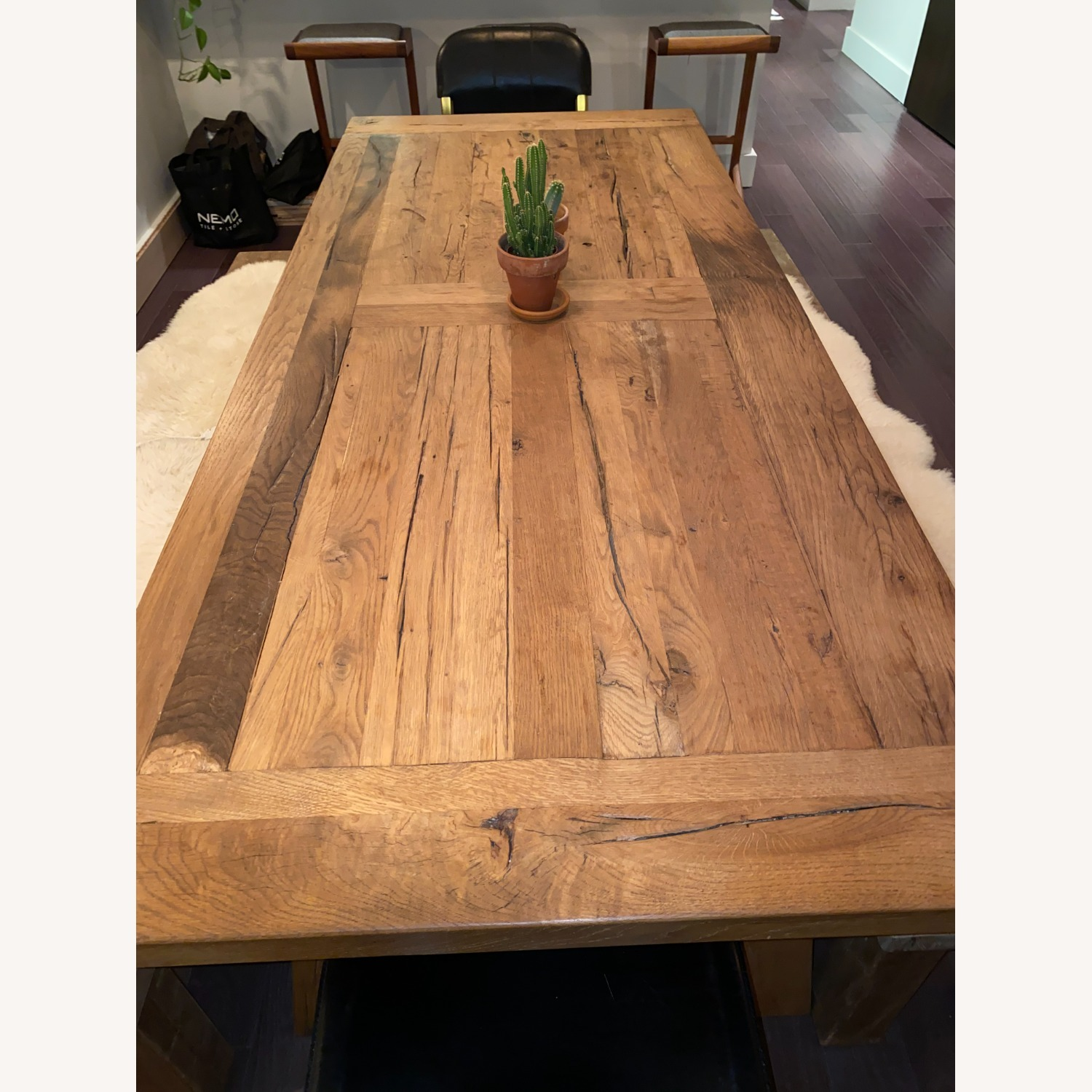 Restoration Hardware Russian Oak Table and Benches - image-3