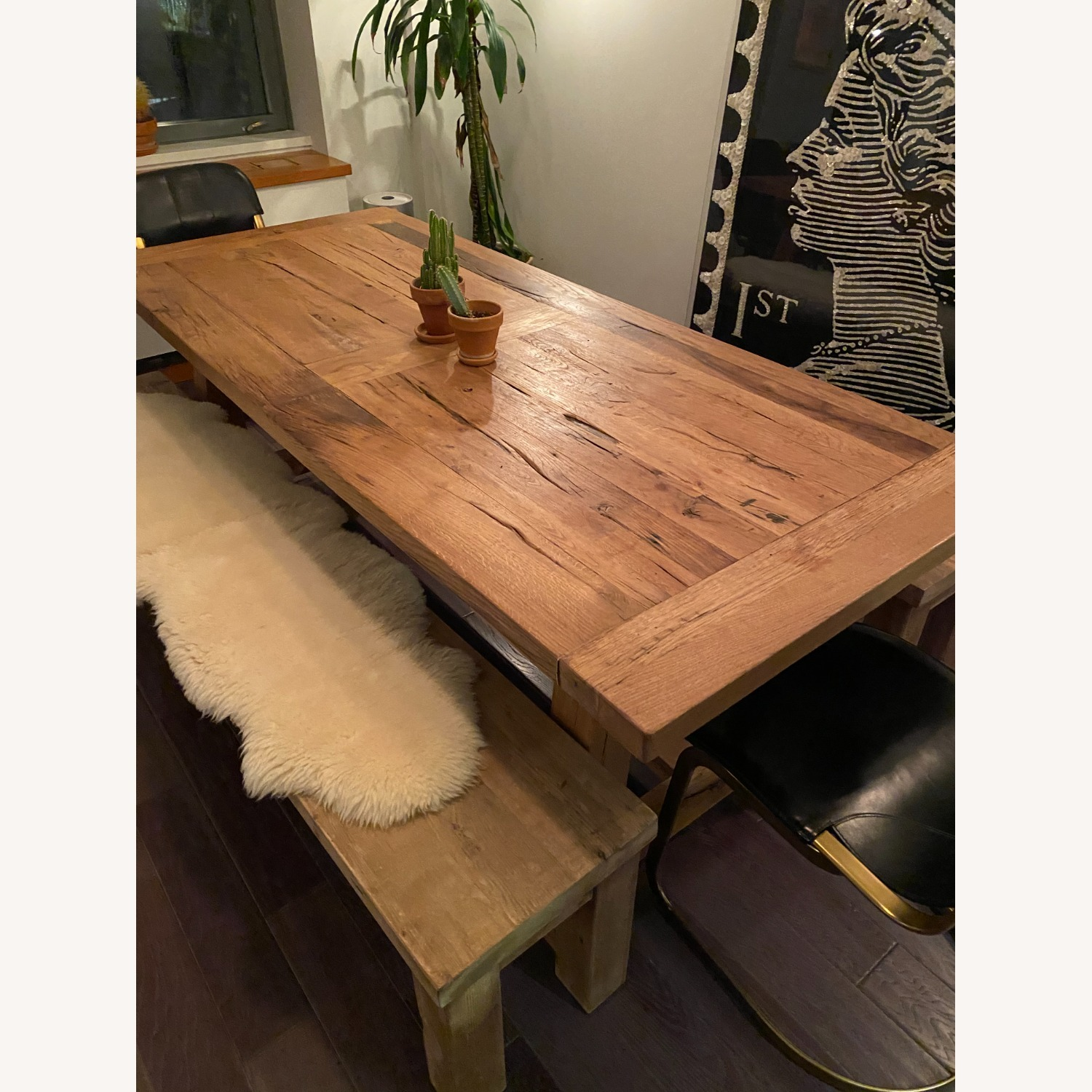 Restoration Hardware Russian Oak Table and Benches - image-1