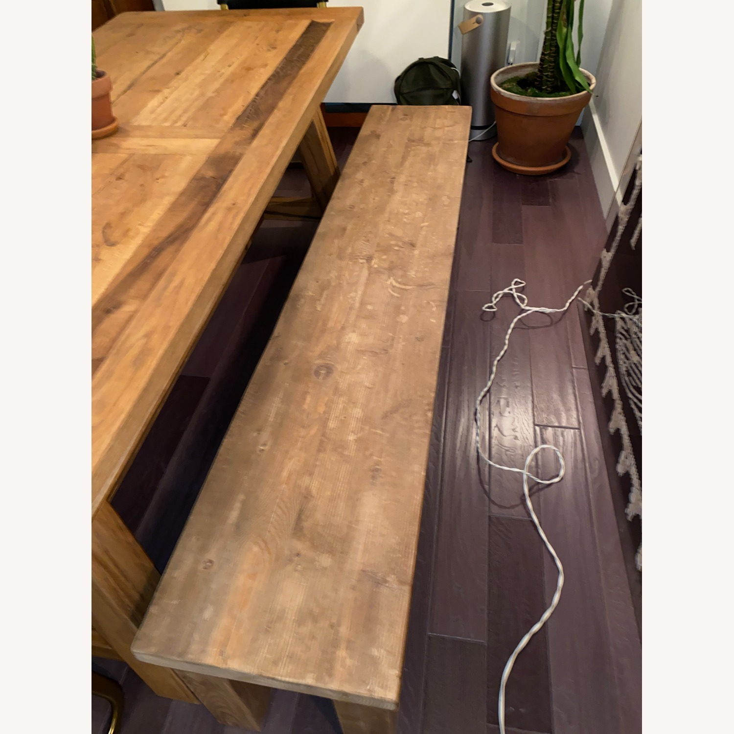 Restoration Hardware Russian Oak Table and Benches - image-6