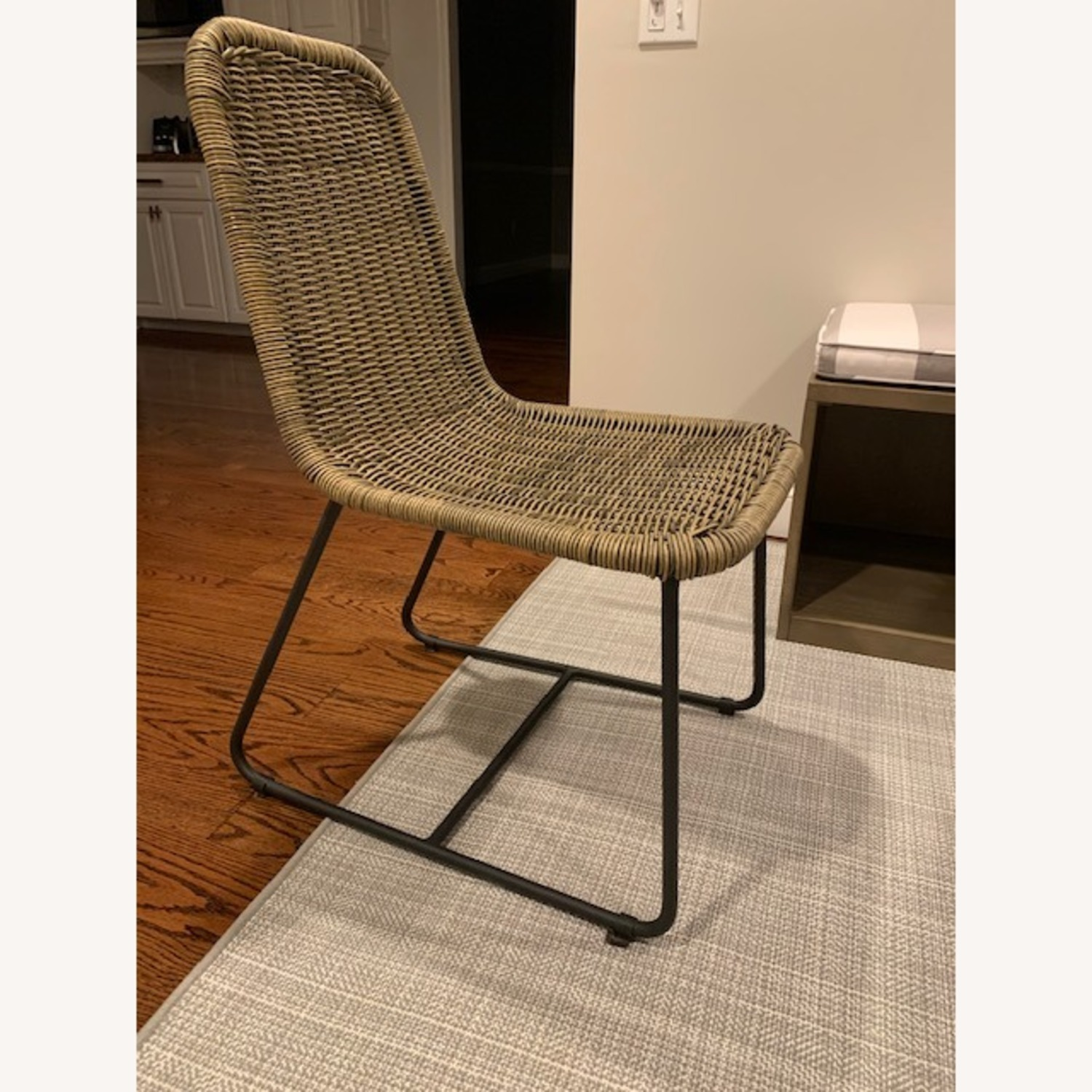 Pottery Barn Woven Grey Chairs - image-1