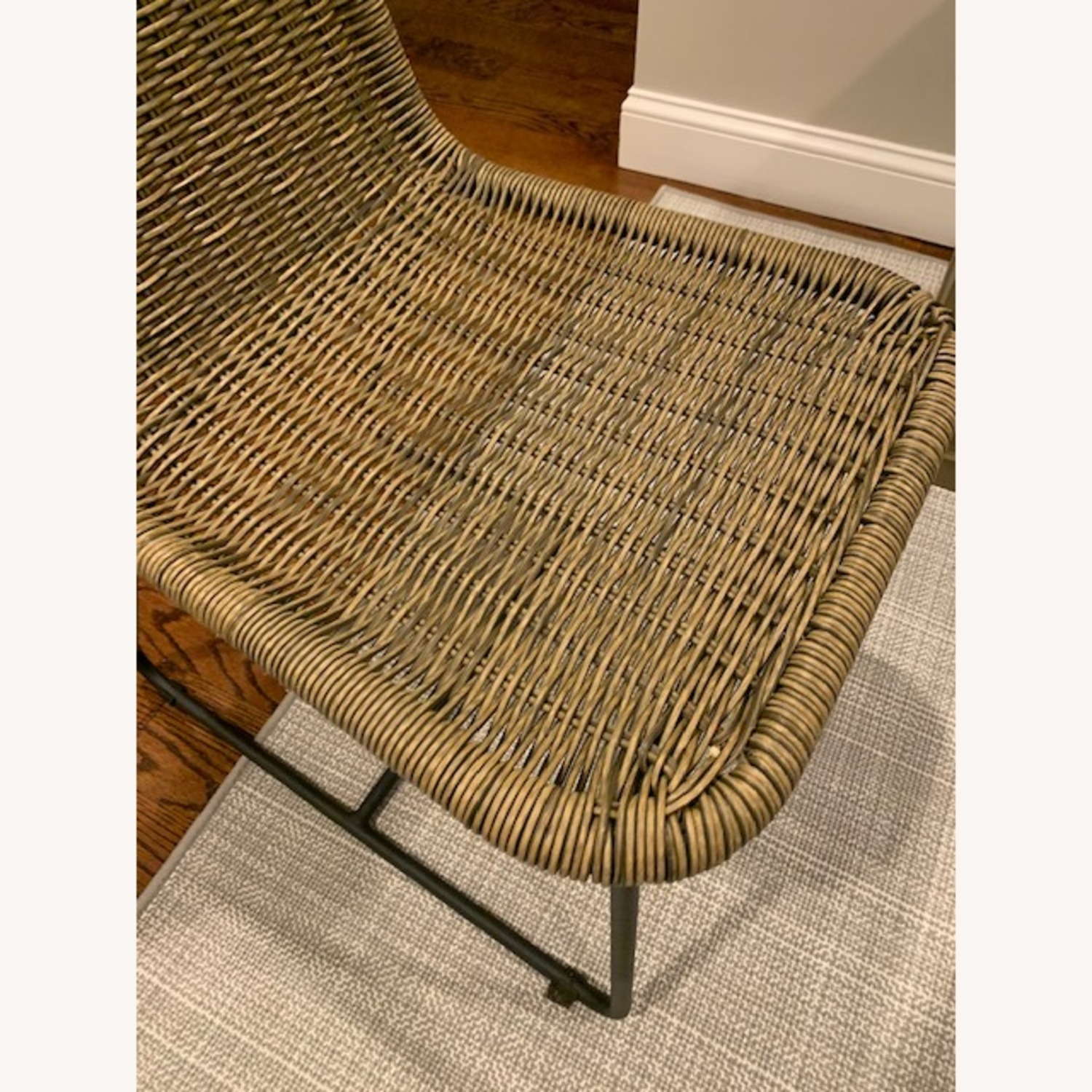 Pottery Barn Woven Grey Chairs - image-3