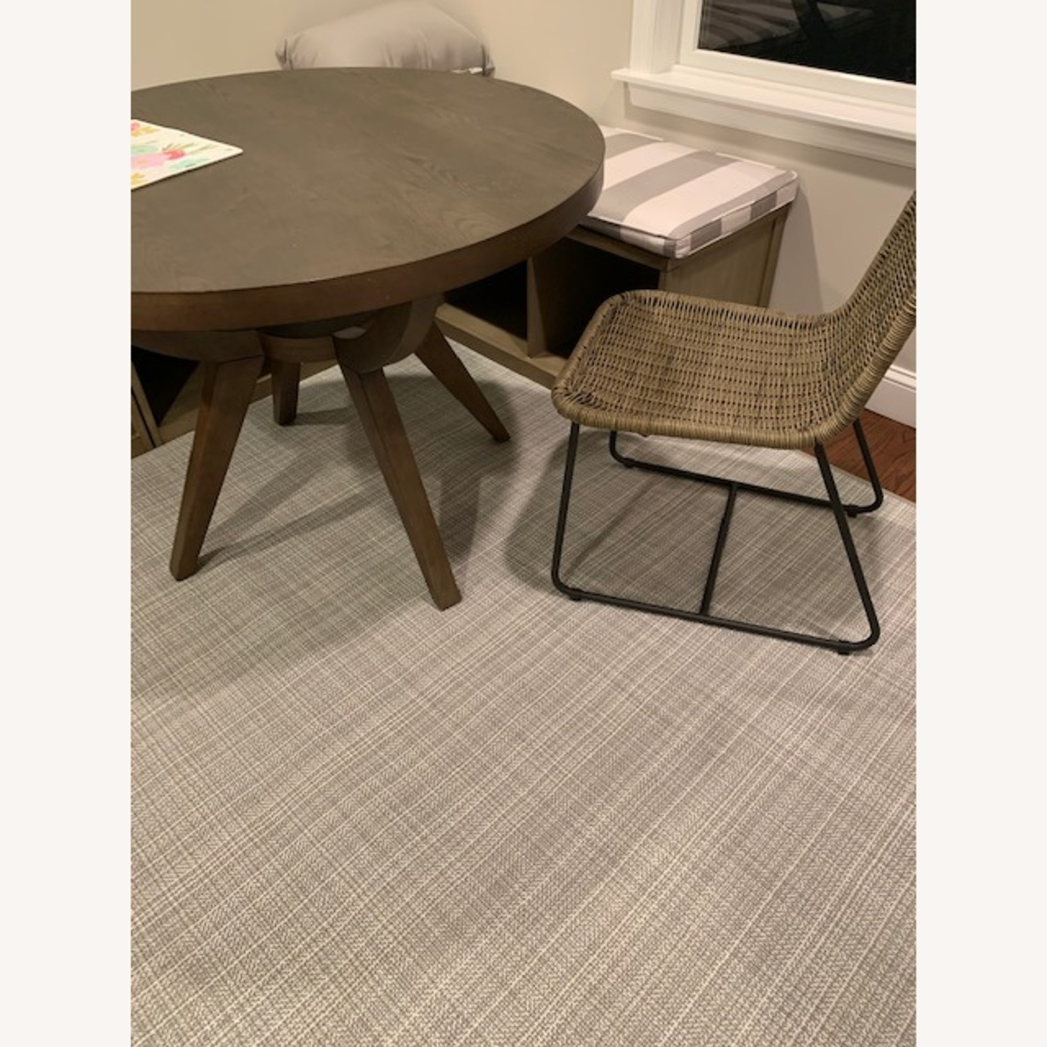 Pottery Barn Woven Grey Chairs - image-2