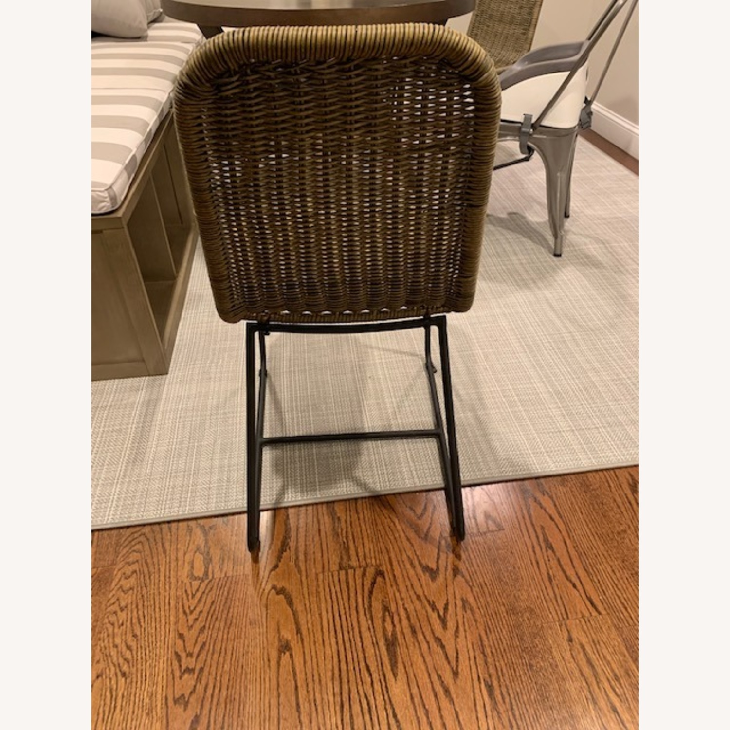 Pottery Barn Woven Grey Chairs - image-4