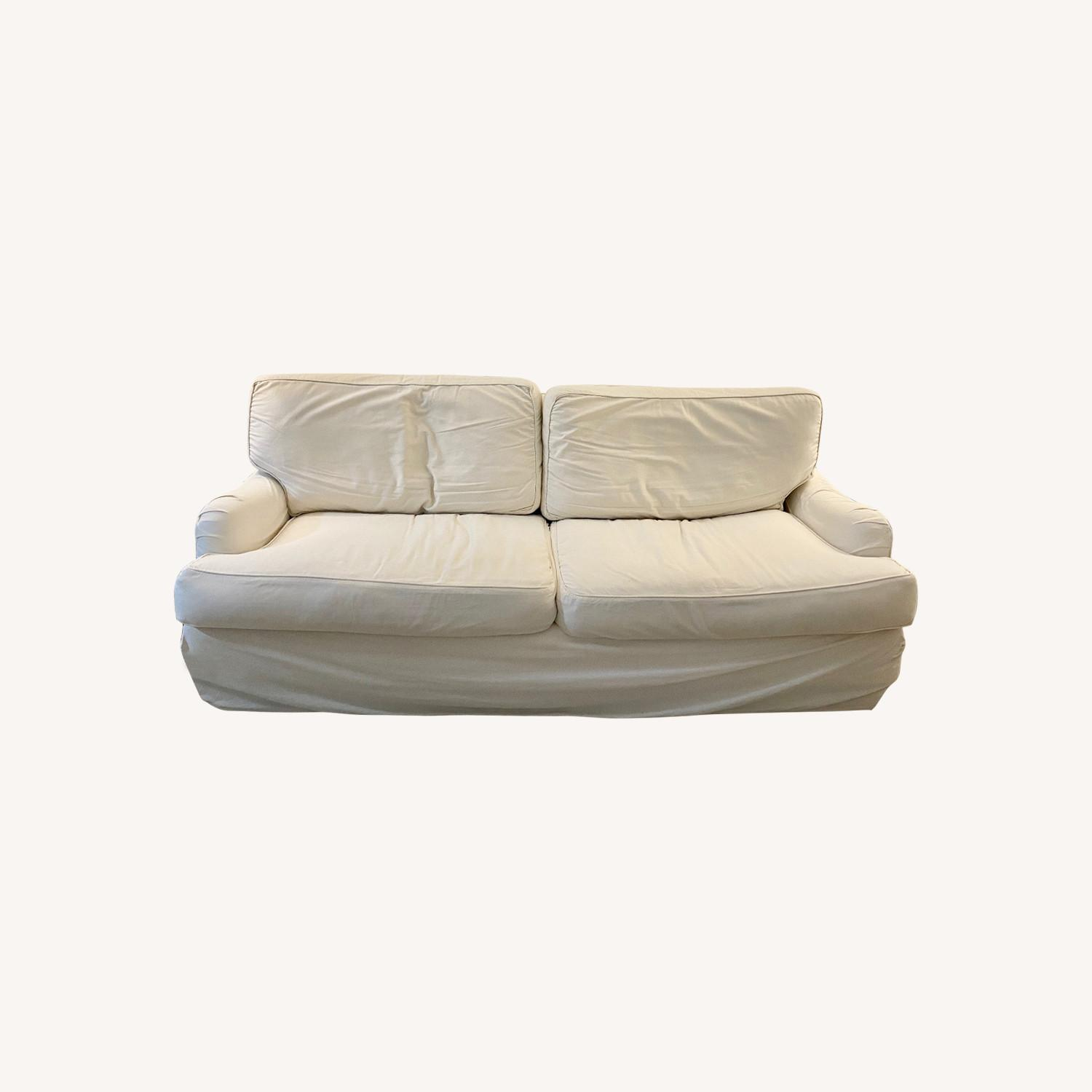Off White Cisco Couch - image-0