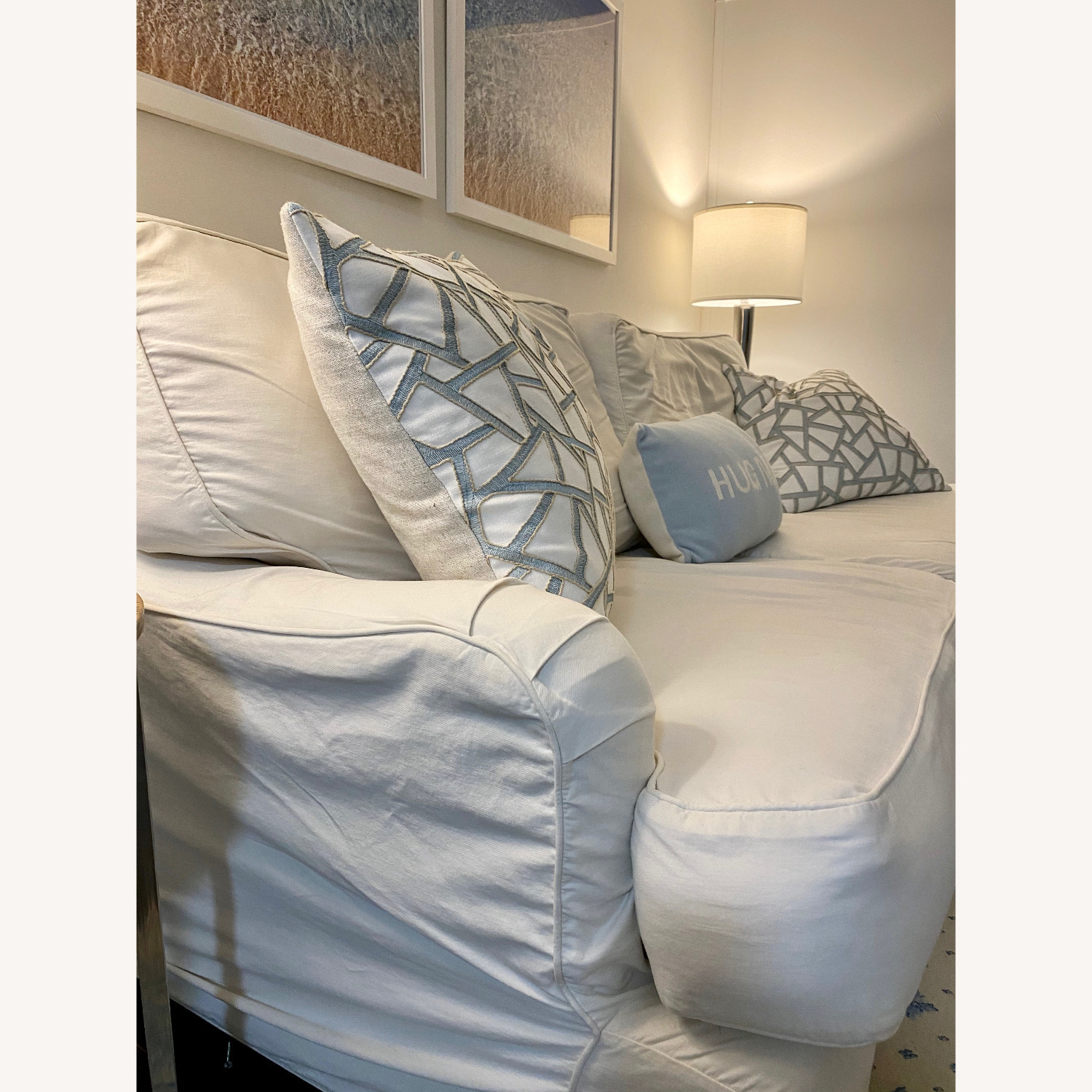 Off White Cisco Couch - image-2