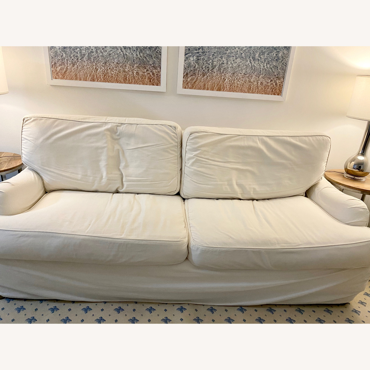 Off White Cisco Couch - image-5