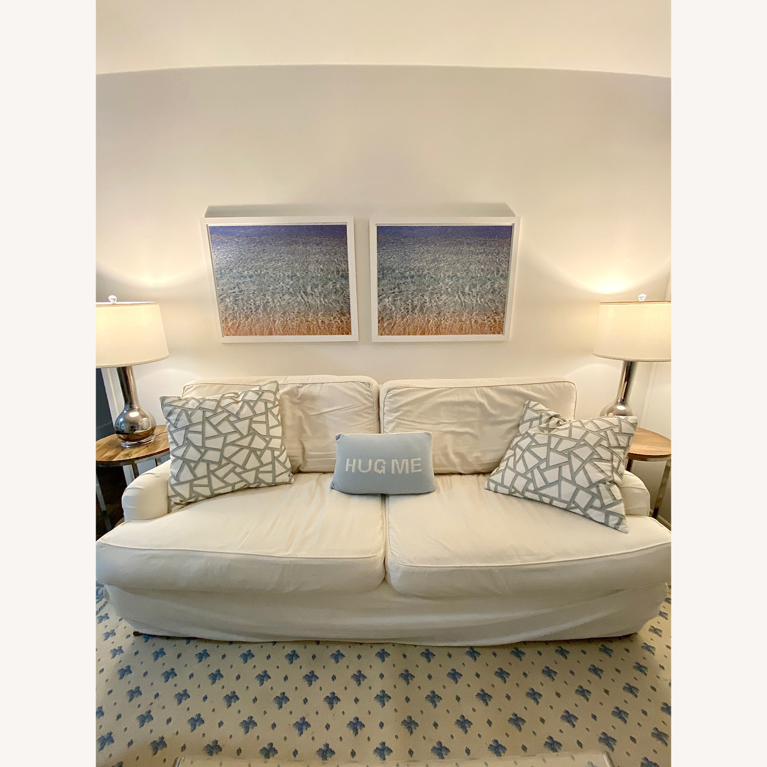Off White Cisco Couch - image-1