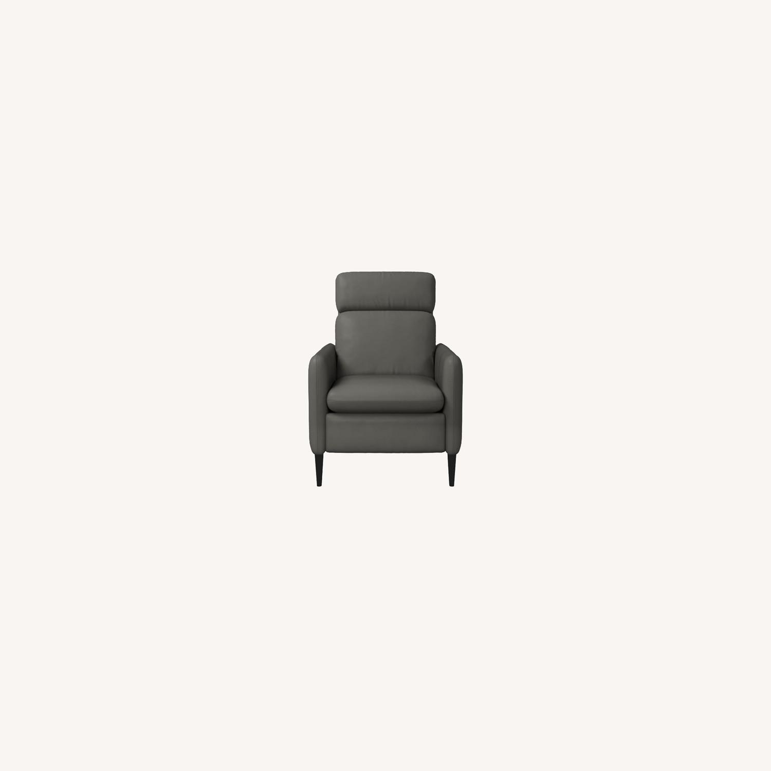 West Elm Lewis Leather Recliner - image-0