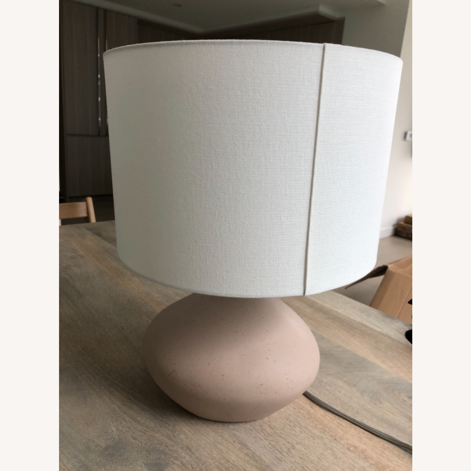 West Elm Asymmetrical Ceramic Lamp - image-3