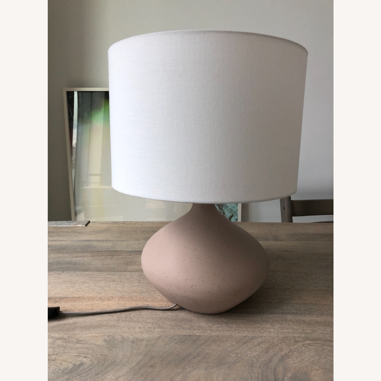 West Elm Asymmetrical Ceramic Lamp - image-1