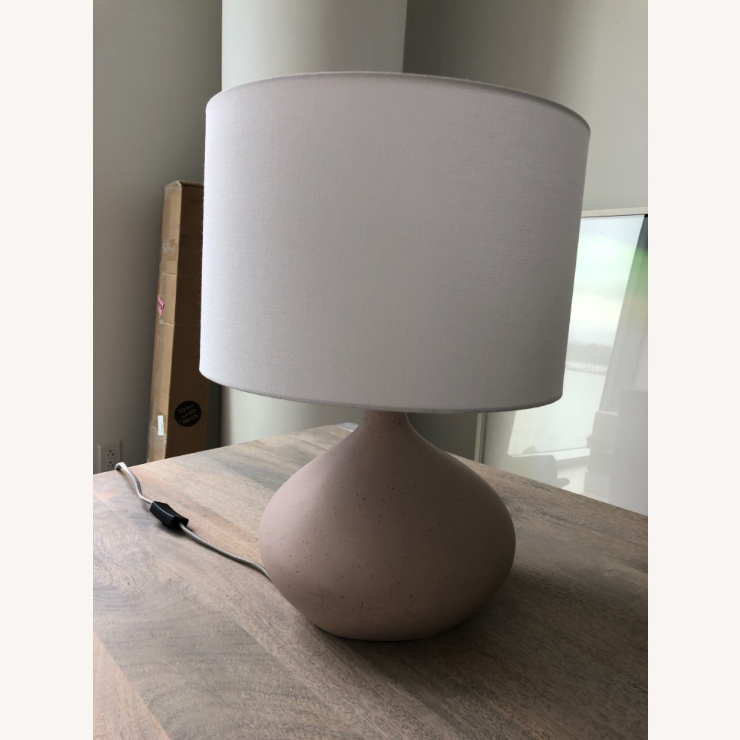 West Elm Asymmetrical Ceramic Lamp - image-2