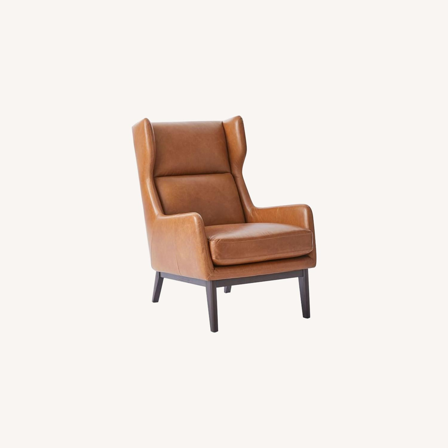 West Elm Ryder Leather Chair - image-0
