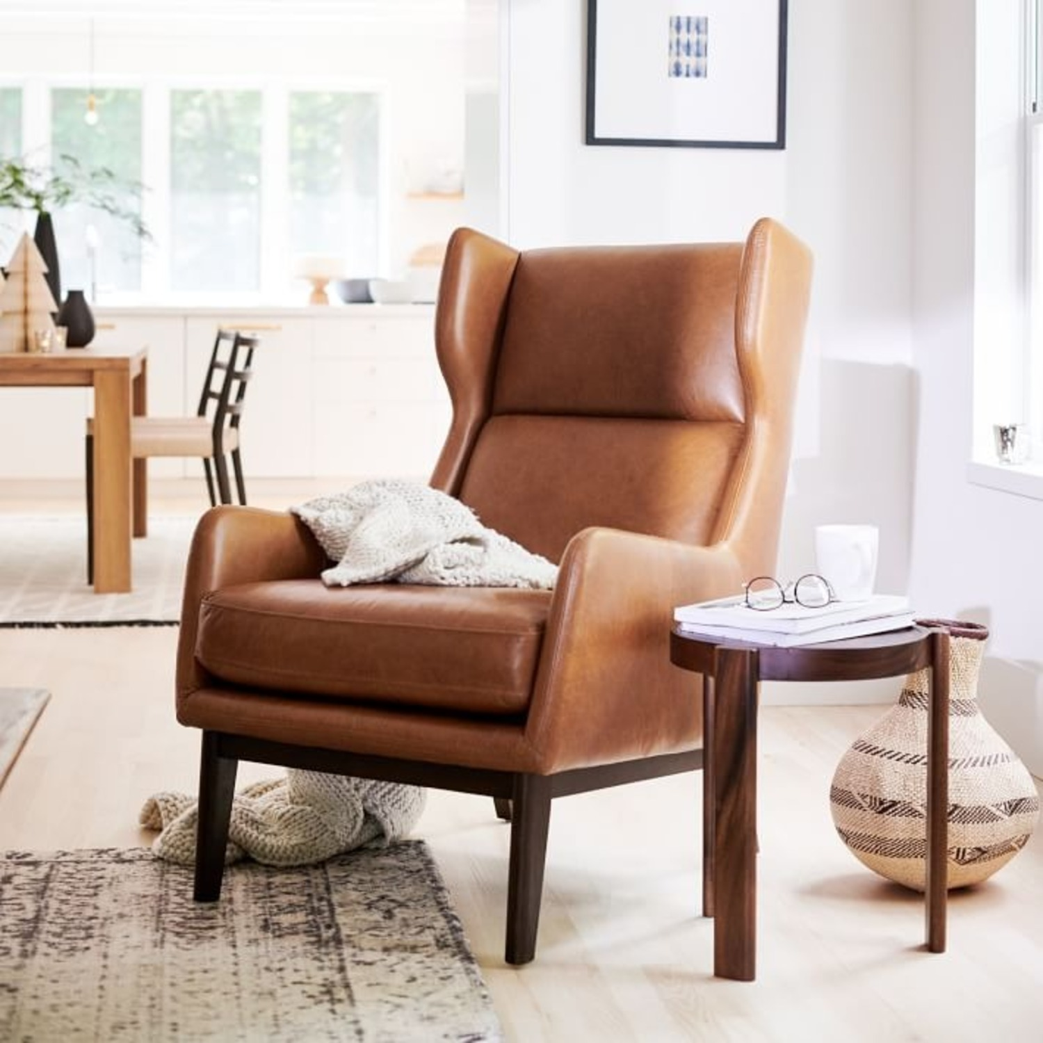 West Elm Ryder Leather Chair - image-2