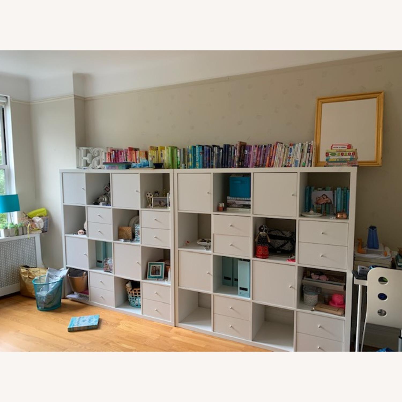 IKEA Assembled White Kallax Book Shelf - image-1
