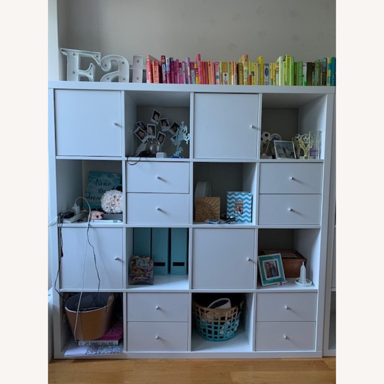 IKEA Assembled White Kallax Book Shelf - image-3