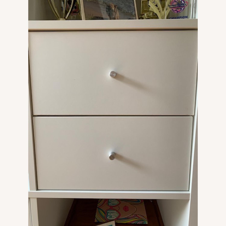 IKEA Assembled White Kallax Book Shelf - image-5