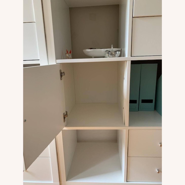 IKEA Assembled White Kallax Book Shelf - image-6