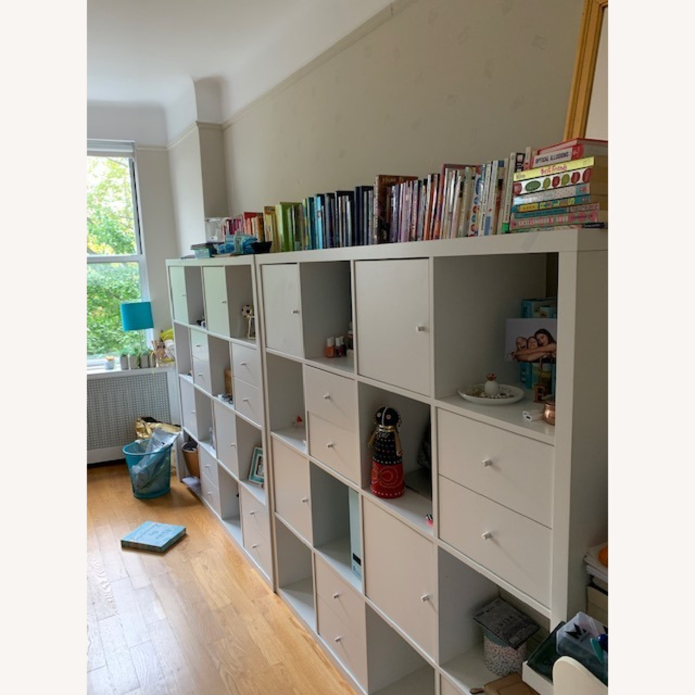 IKEA Assembled White Kallax Book Shelf - image-2