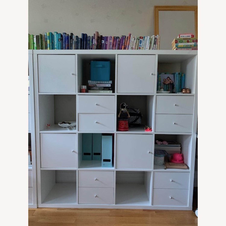 IKEA Assembled White Kallax Book Shelf - image-4