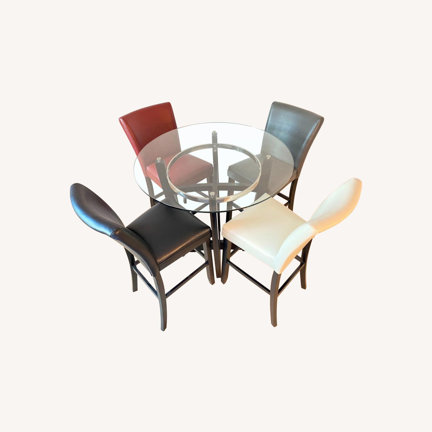 4-seater Glass Dining Set - image-0