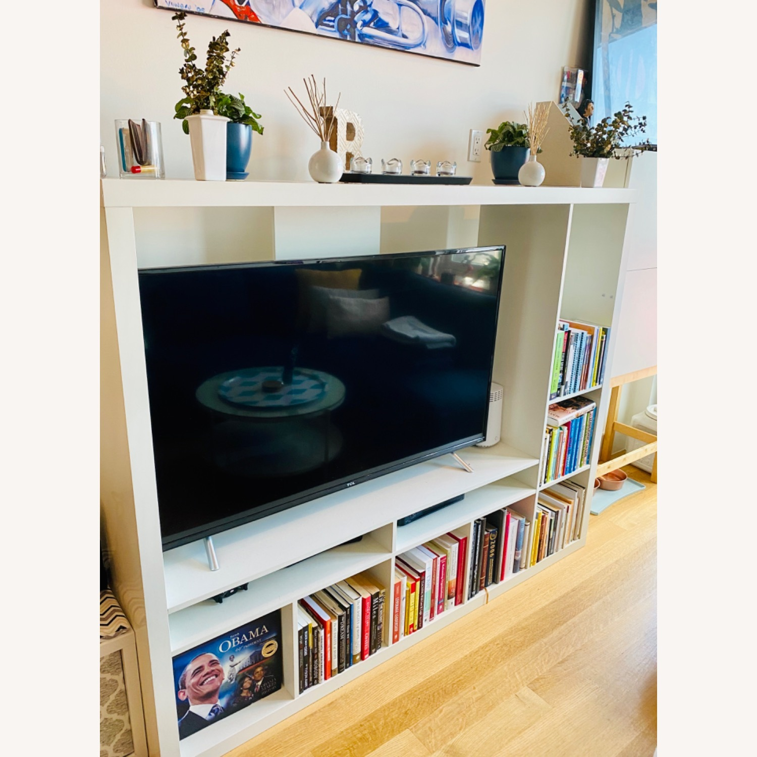 IKEA White TV Storage Unit - image-2