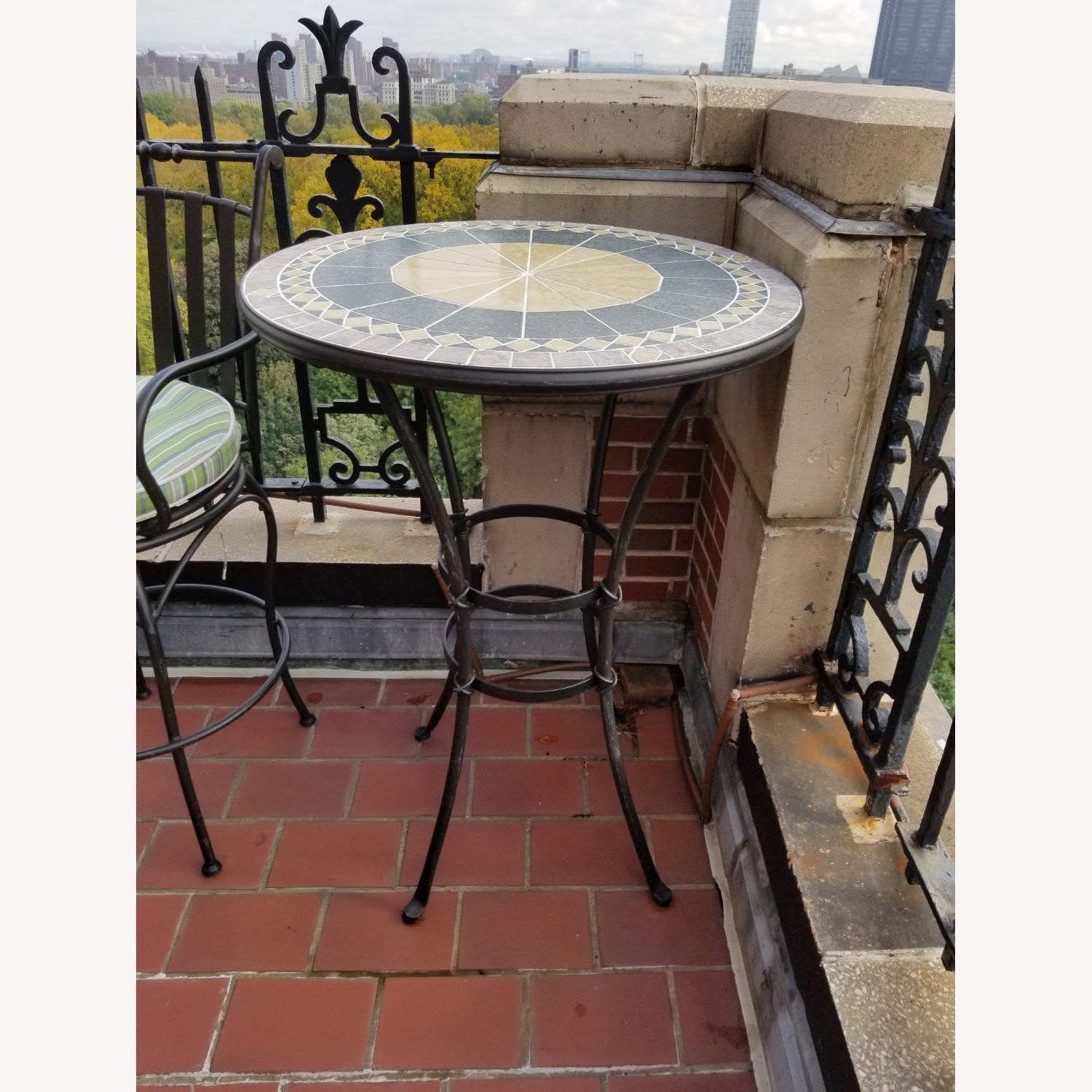 Wrought Iron Outdoor Dining Set - image-2