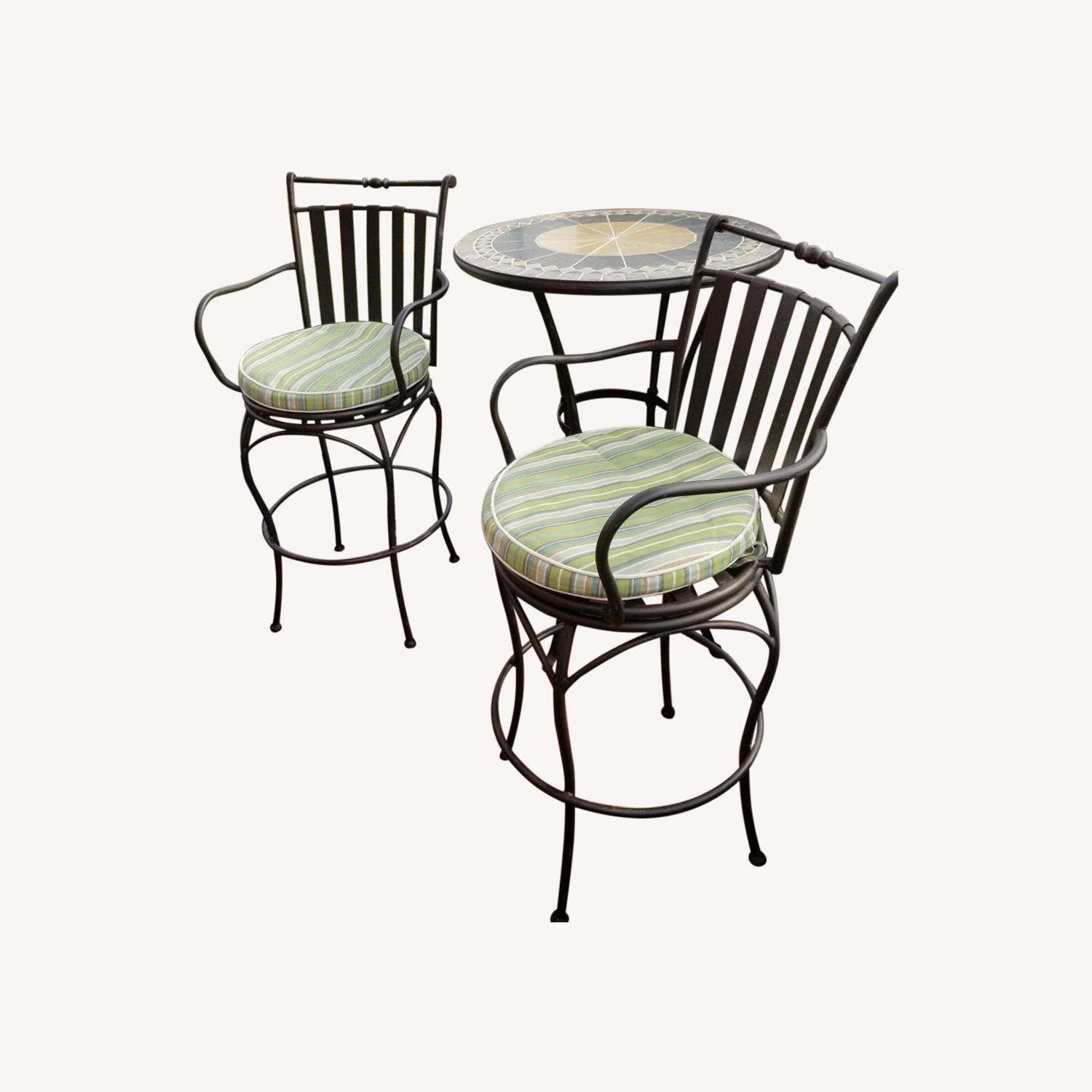 Wrought Iron Outdoor Dining Set - image-0