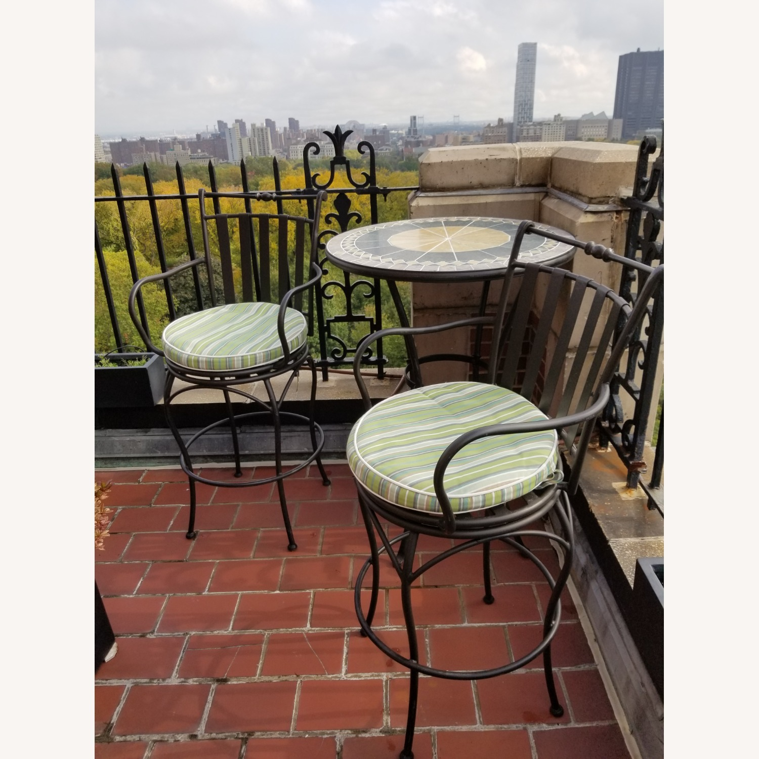 Wrought Iron Outdoor Dining Set - image-1
