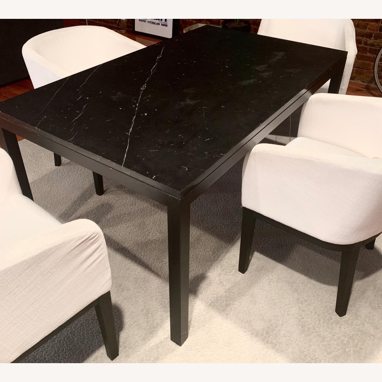 Crate Barrel Black Marble Dining Table Aptdeco