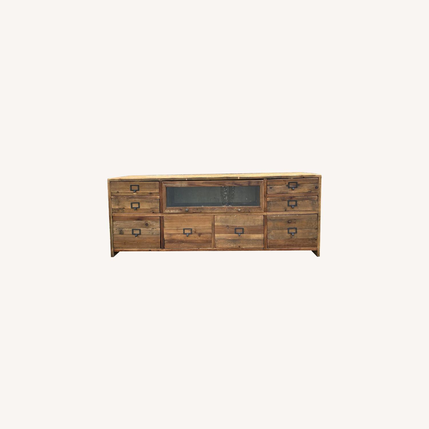 Crate & Barrel Reclaimed Wood Media Console - image-0