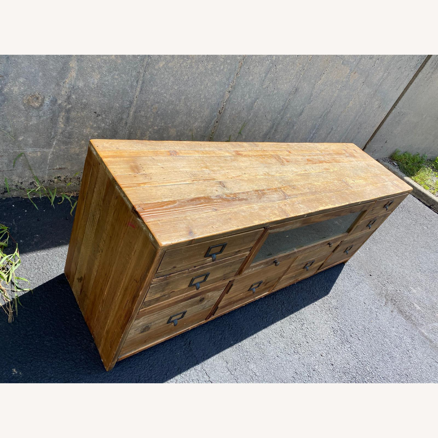 Crate & Barrel Reclaimed Wood Media Console - image-4
