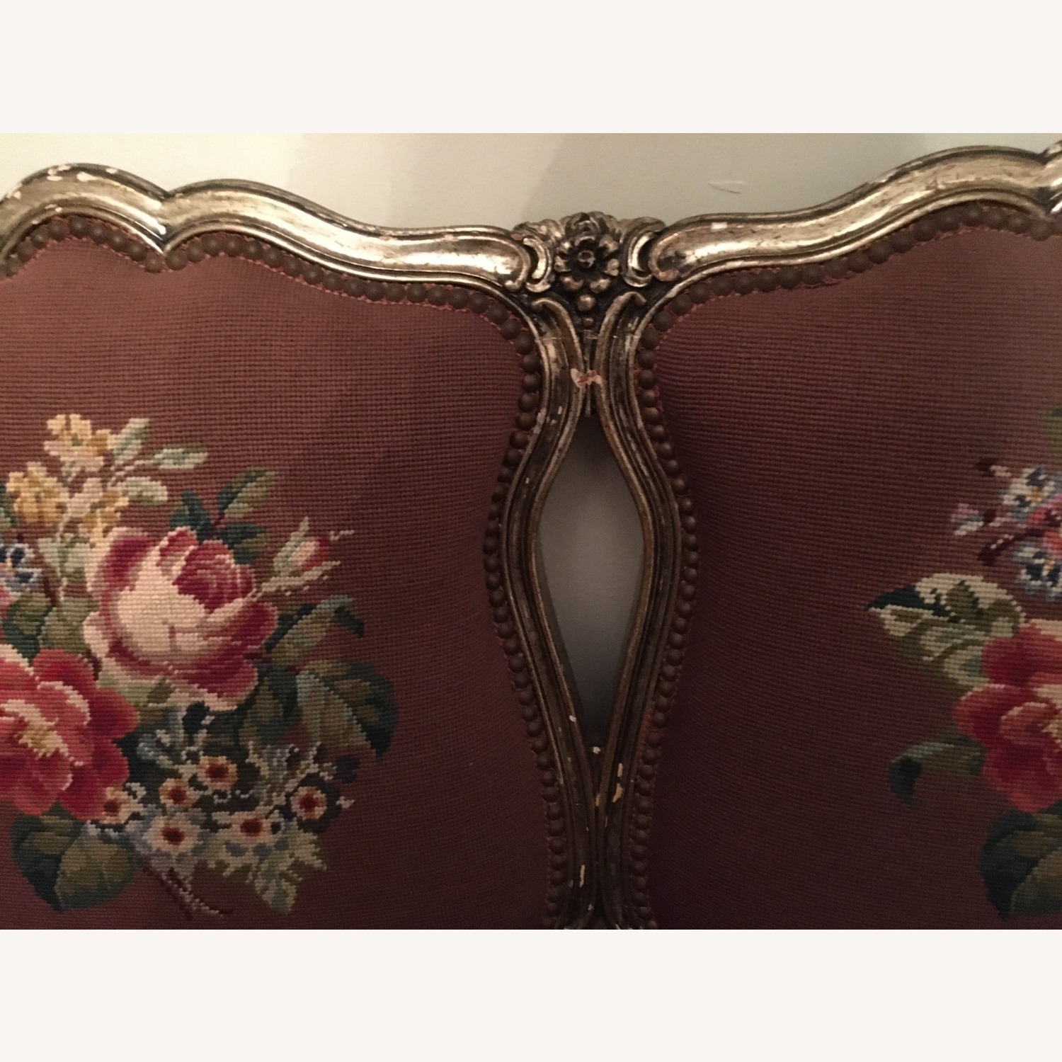 Taylor Made Needlepoint Floral Fabric Loveseat - image-3