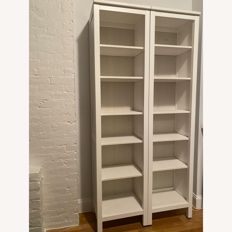 IKEA Hemnes White Stained Bookshelves - image-2