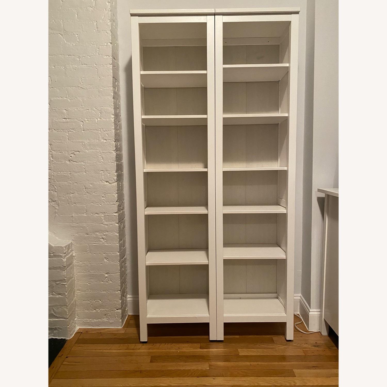 IKEA Hemnes White Stained Bookshelves - image-1