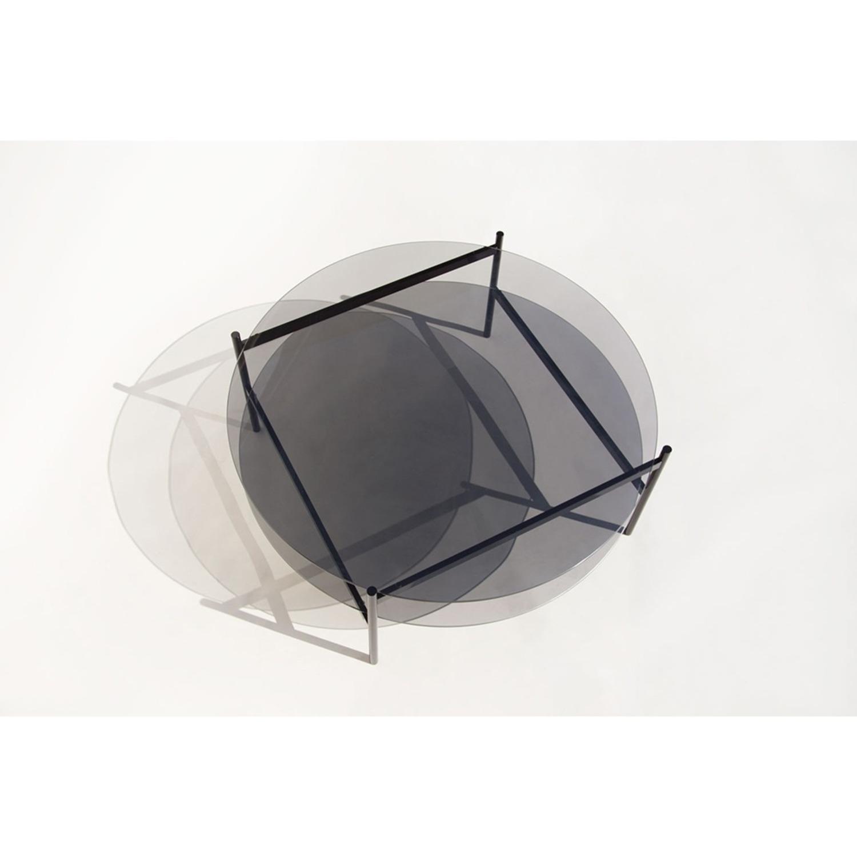 Duotone Coffee Table Round Black Smoked Glass - image-2