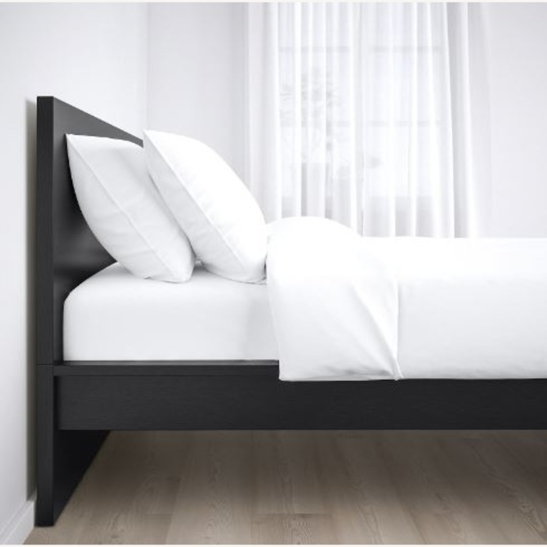 IKEA Malm King Brown Bed - image-2