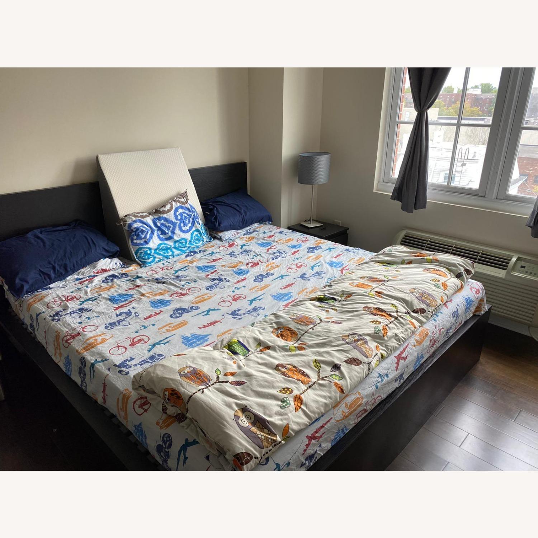 IKEA Malm King Brown Bed - image-0