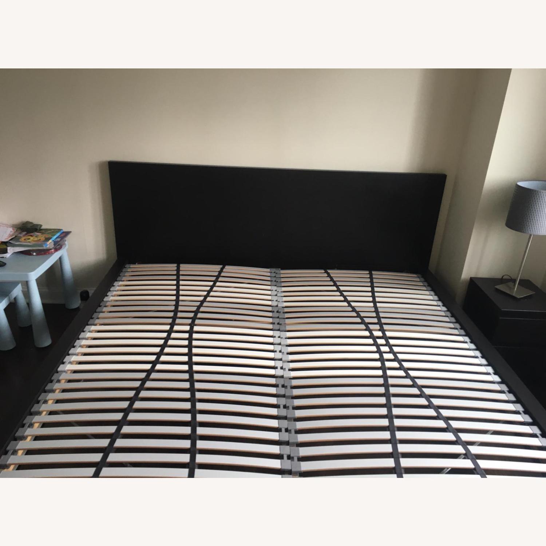IKEA Malm King Brown Bed - image-5
