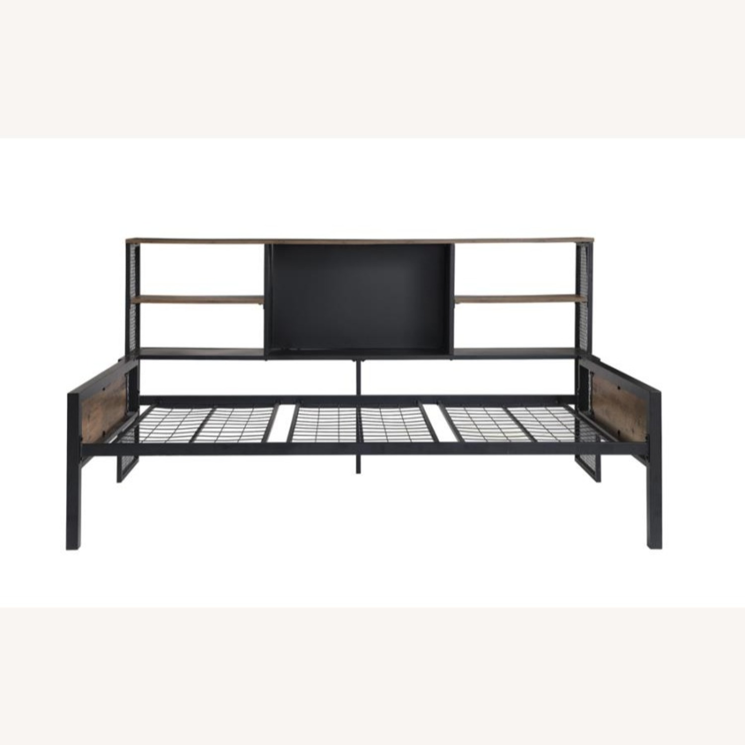 Twin Daybed In Chestnut & Matte Black Finish - image-2