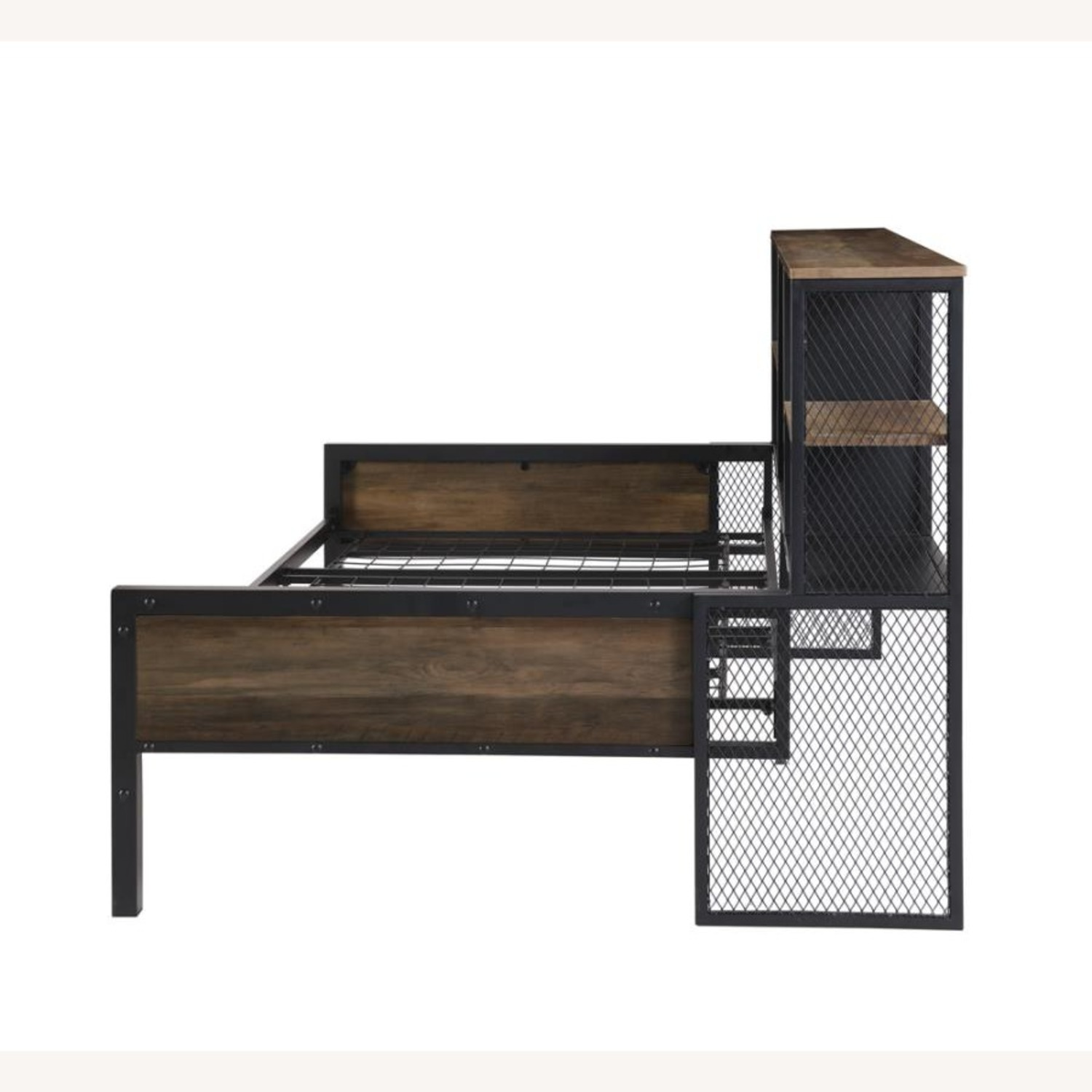 Twin Daybed In Chestnut & Matte Black Finish - image-3