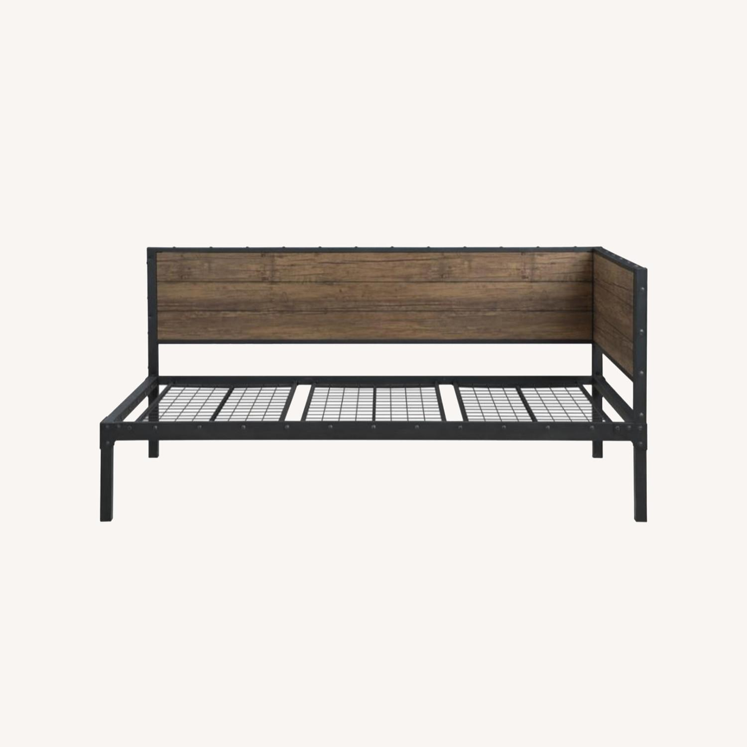 Twin Daybed In Weathered Black & Chestnut Finish - image-5