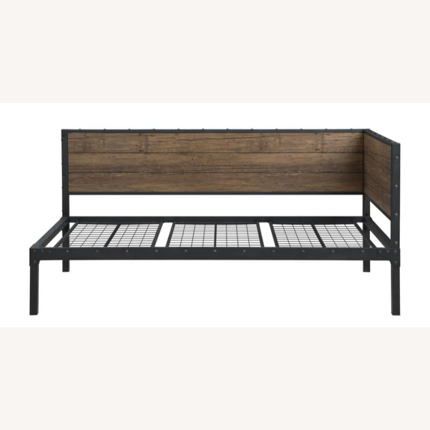 Twin Daybed In Weathered Black & Chestnut Finish - image-1