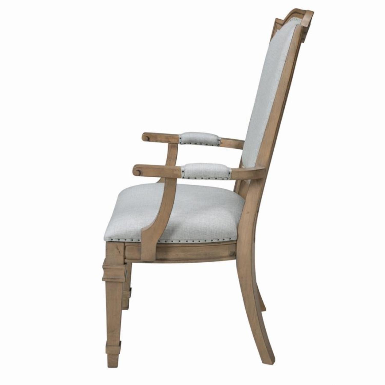Armchair In Grey Fabric W/ Nailhead Trim - image-2