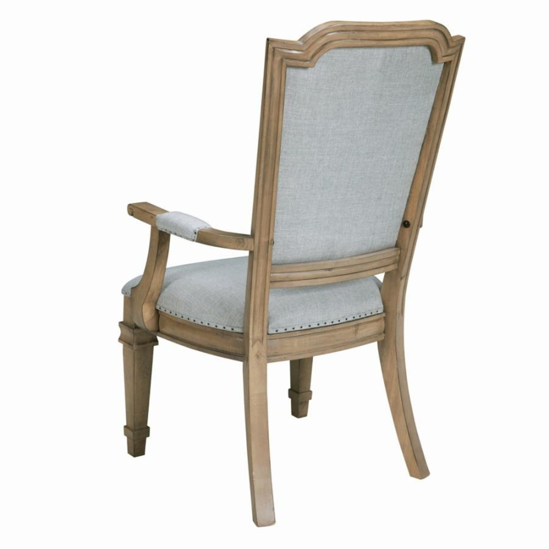 Armchair In Grey Fabric W/ Nailhead Trim - image-3
