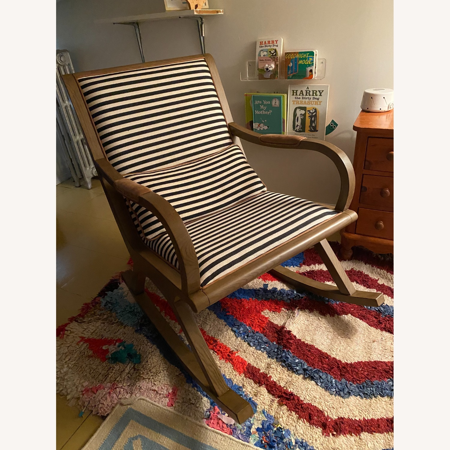 Crate & Barrel Bakersfield Rocking Chair - image-1