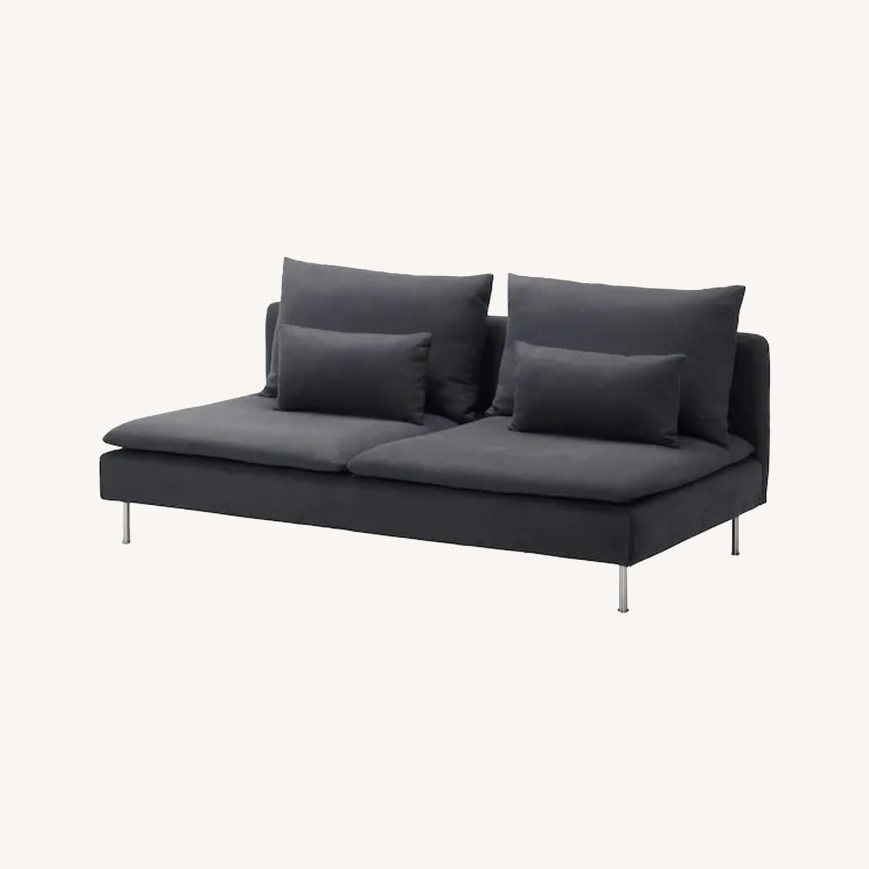 IKEA Dark Grey SDERHAMN Couch - image-0