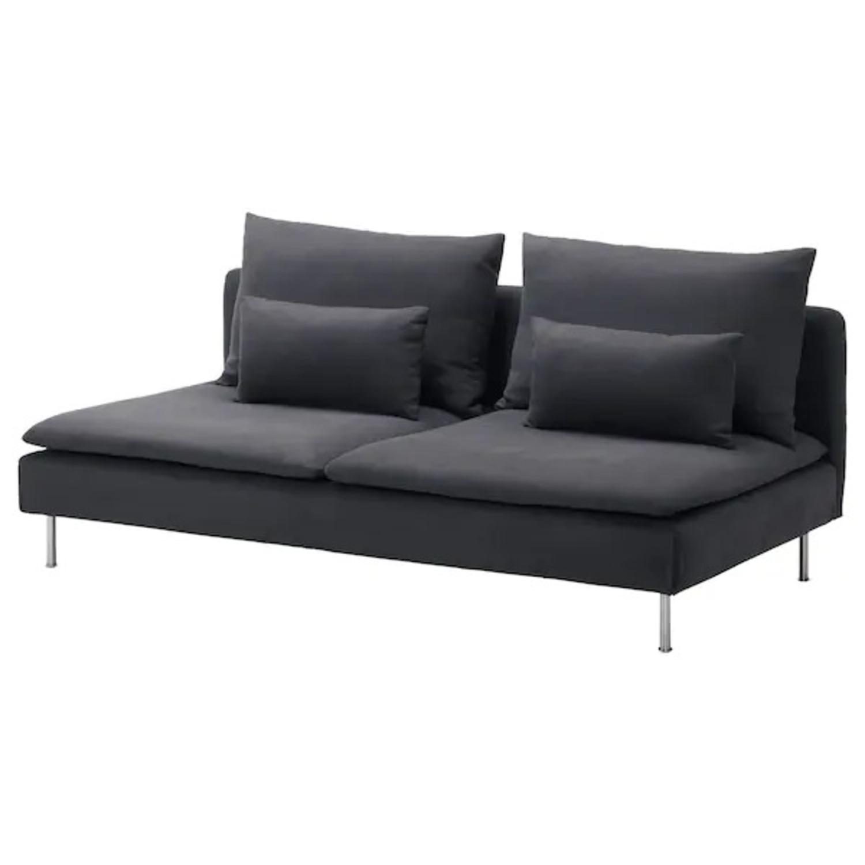 IKEA Dark Grey SDERHAMN Couch - image-2