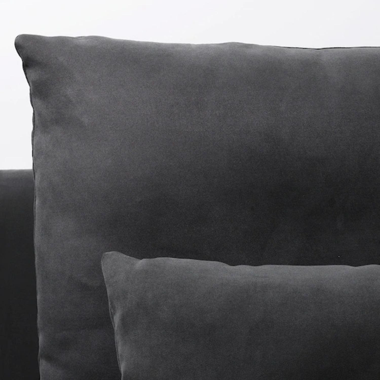 IKEA Dark Grey SDERHAMN Couch - image-3